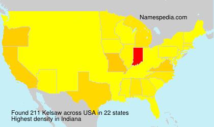 Familiennamen Kelsaw - USA
