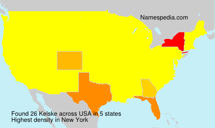 Surname Kelske in USA