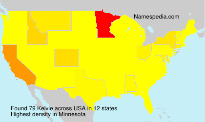 Surname Kelvie in USA