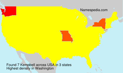 Surname Kempbell in USA