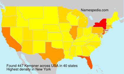 Surname Kempner in USA