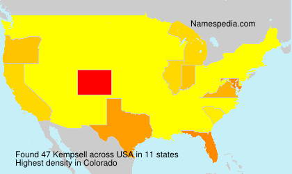 Surname Kempsell in USA
