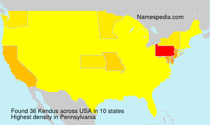 Surname Kendus in USA