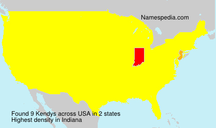 Surname Kendys in USA
