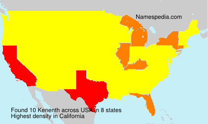 Surname Kenenth in USA