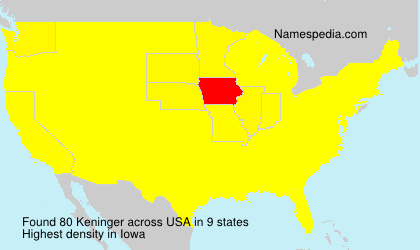 Surname Keninger in USA
