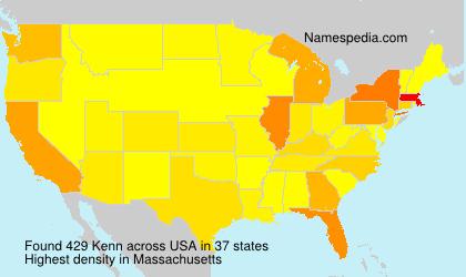 Familiennamen Kenn - USA