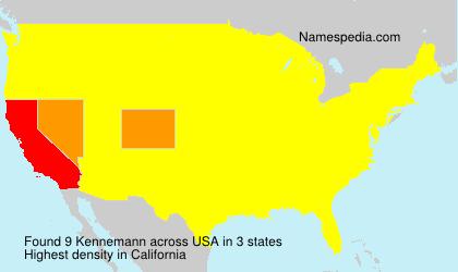 Surname Kennemann in USA