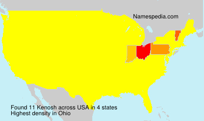 Surname Kenosh in USA