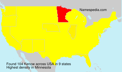 Surname Kenow in USA
