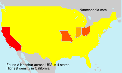 Surname Kenshur in USA