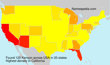 Surname Kenson in USA