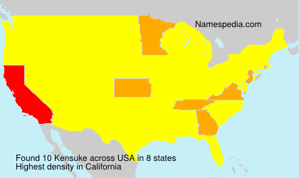 Surname Kensuke in USA