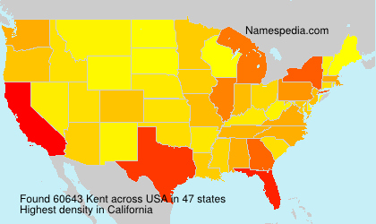 Surname Kent in USA