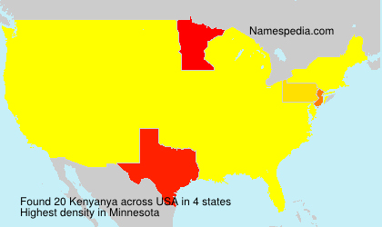 Surname Kenyanya in USA