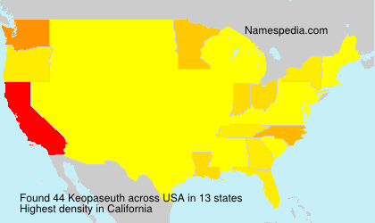 Surname Keopaseuth in USA