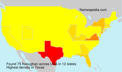 Surname Keoughan in USA