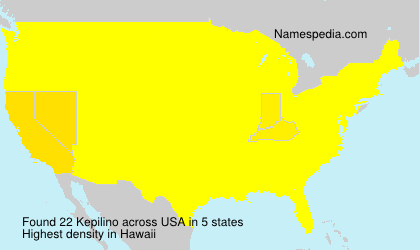 Familiennamen Kepilino - USA