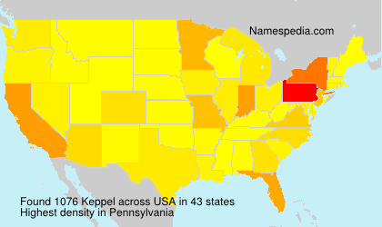 Surname Keppel in USA