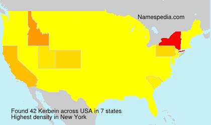Familiennamen Kerbein - USA