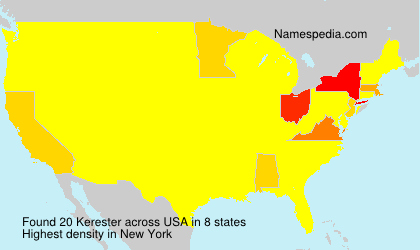 Surname Kerester in USA