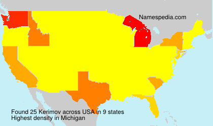 Surname Kerimov in USA