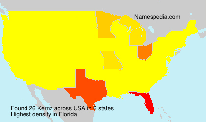 Surname Kernz in USA