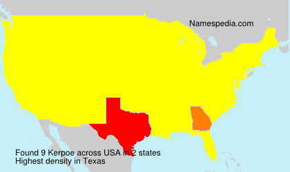 Surname Kerpoe in USA