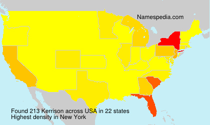 Surname Kerrison in USA