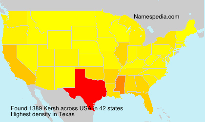 Surname Kersh in USA