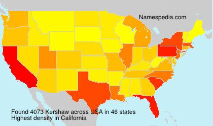 Familiennamen Kershaw - USA