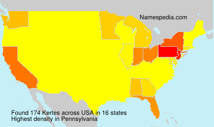 Familiennamen Kertes - USA