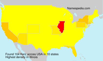 Surname Kerz in USA