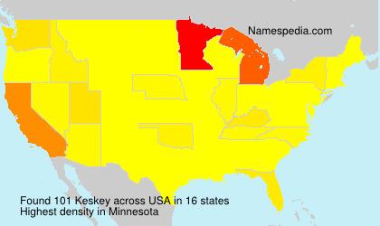 Surname Keskey in USA