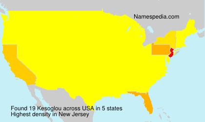 Surname Kesoglou in USA