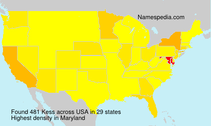 Surname Kess in USA