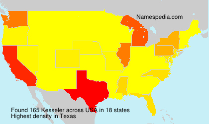 Surname Kesseler in USA