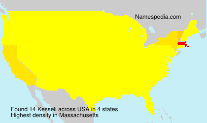 Surname Kesseli in USA