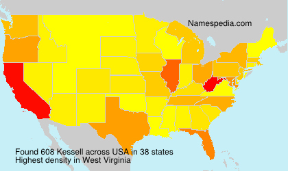 Surname Kessell in USA