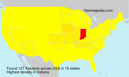 Surname Kessens in USA