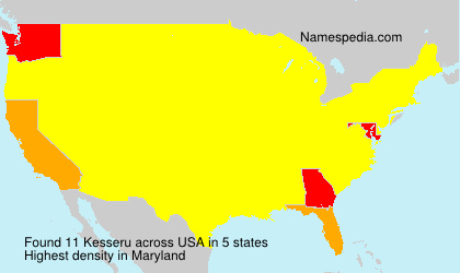 Surname Kesseru in USA