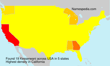 Surname Kesserwani in USA