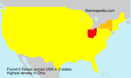 Surname Kessis in USA