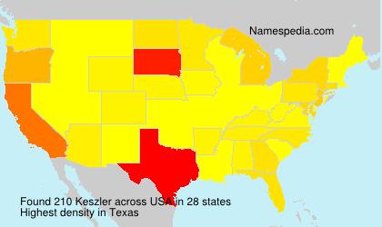Familiennamen Keszler - USA