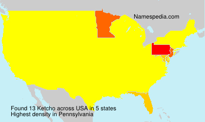 Familiennamen Ketcho - USA