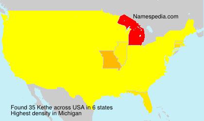 Familiennamen Kethe - USA