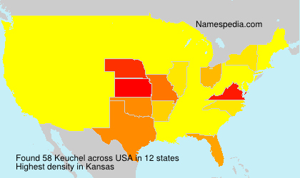 Familiennamen Keuchel - USA