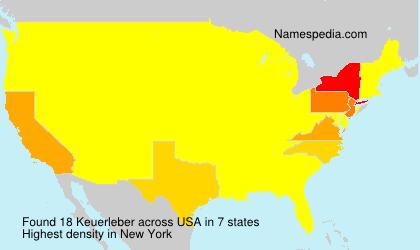 Surname Keuerleber in USA