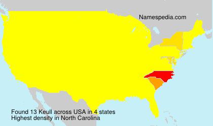Familiennamen Keull - USA