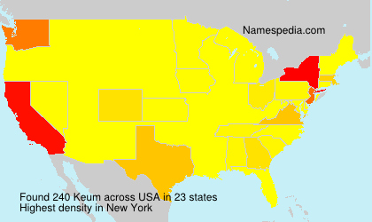 Surname Keum in USA